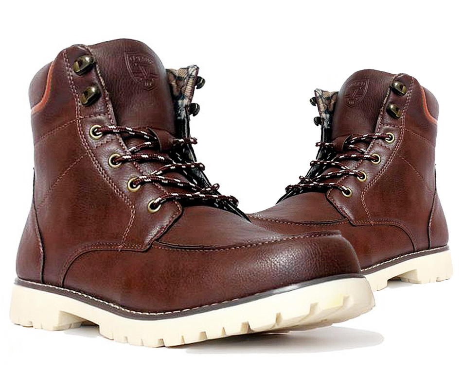 Leather Design Brown Boots SYB-497