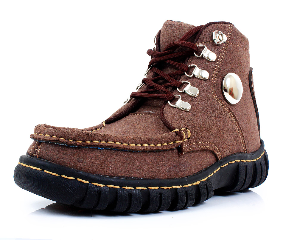 Dark chestnut Casual Boots SYB-503