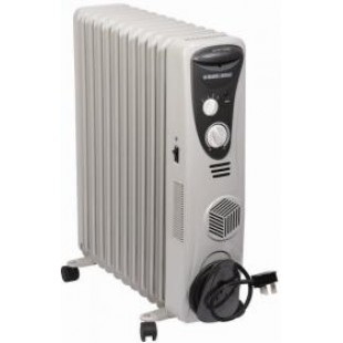 Black Amp Decker Or11 Fin Fan Forced Oli Radiator Heater