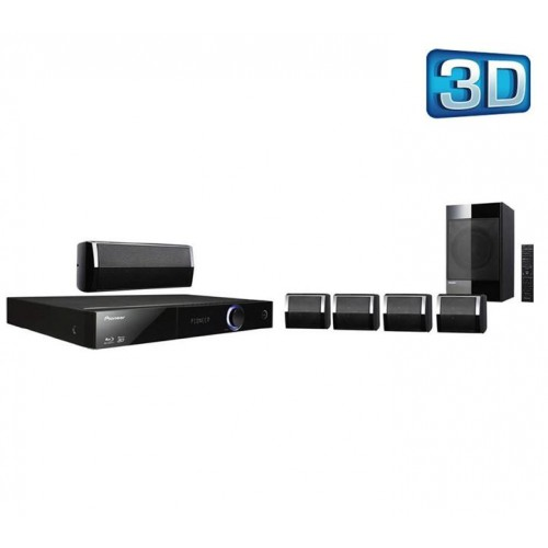 pioneer 5 1 home theater system. pioneer 5.1 blu-ray home cinema system with virtual 3d sound bcs-222 5 1 theater