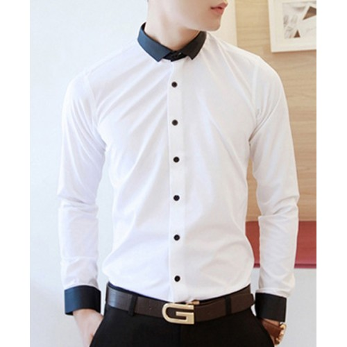 Unique Contrast Collar Designer Casual Shirt price in ...