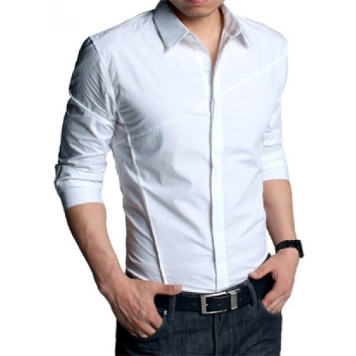 New Style White Casual Shirt Price In Pakistan Designer