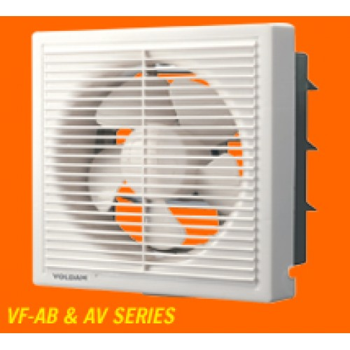 Voldam Full Plastic Front Grill Square Fan (Off-White) (VF-AB6)