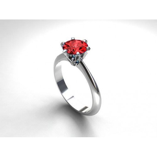 WHITE GOLD PLATED GARNET ZARCOON RING price in Pakistan Paras