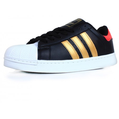 Adidas Superstar Black & Golden Sport Shoes