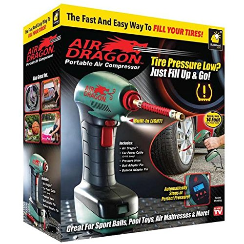 Air Dragon Portable Air Compressor with Built-In LED Light