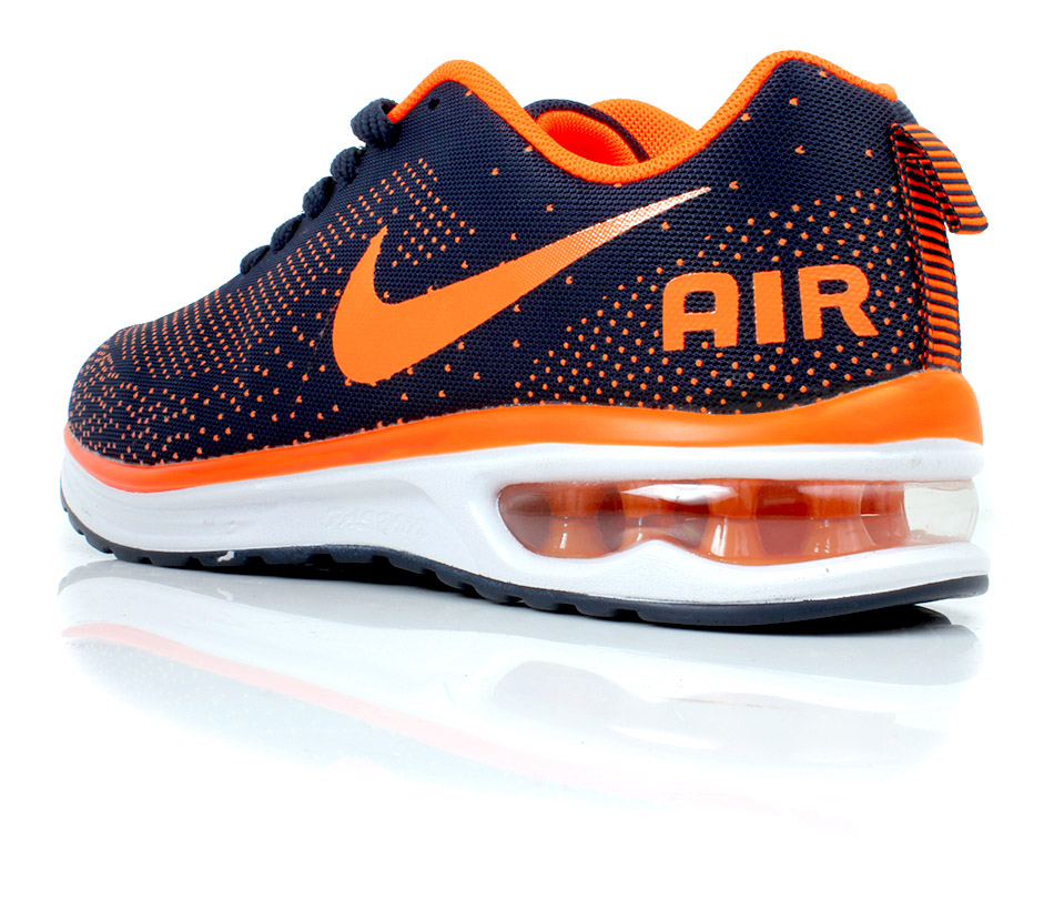 ... Price In Pakistan Nike Air Max Blue Orange Sport Shoes SYB-738 ...