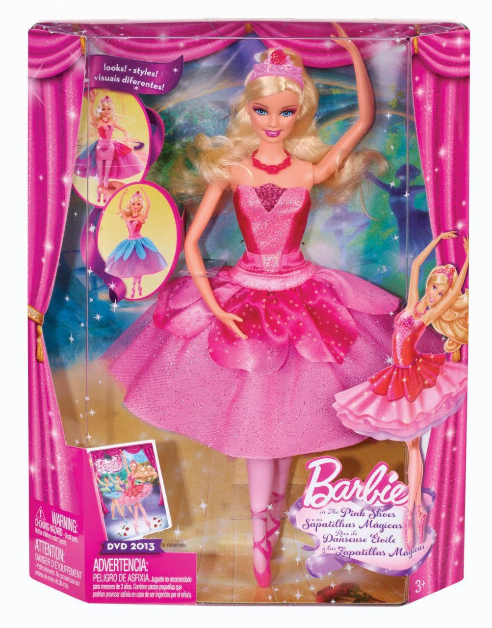 Uncategorized Barbie And The Pink Shoes barbie in the pink shoes transforming ballerina kristyn doll sku skubrb x8810
