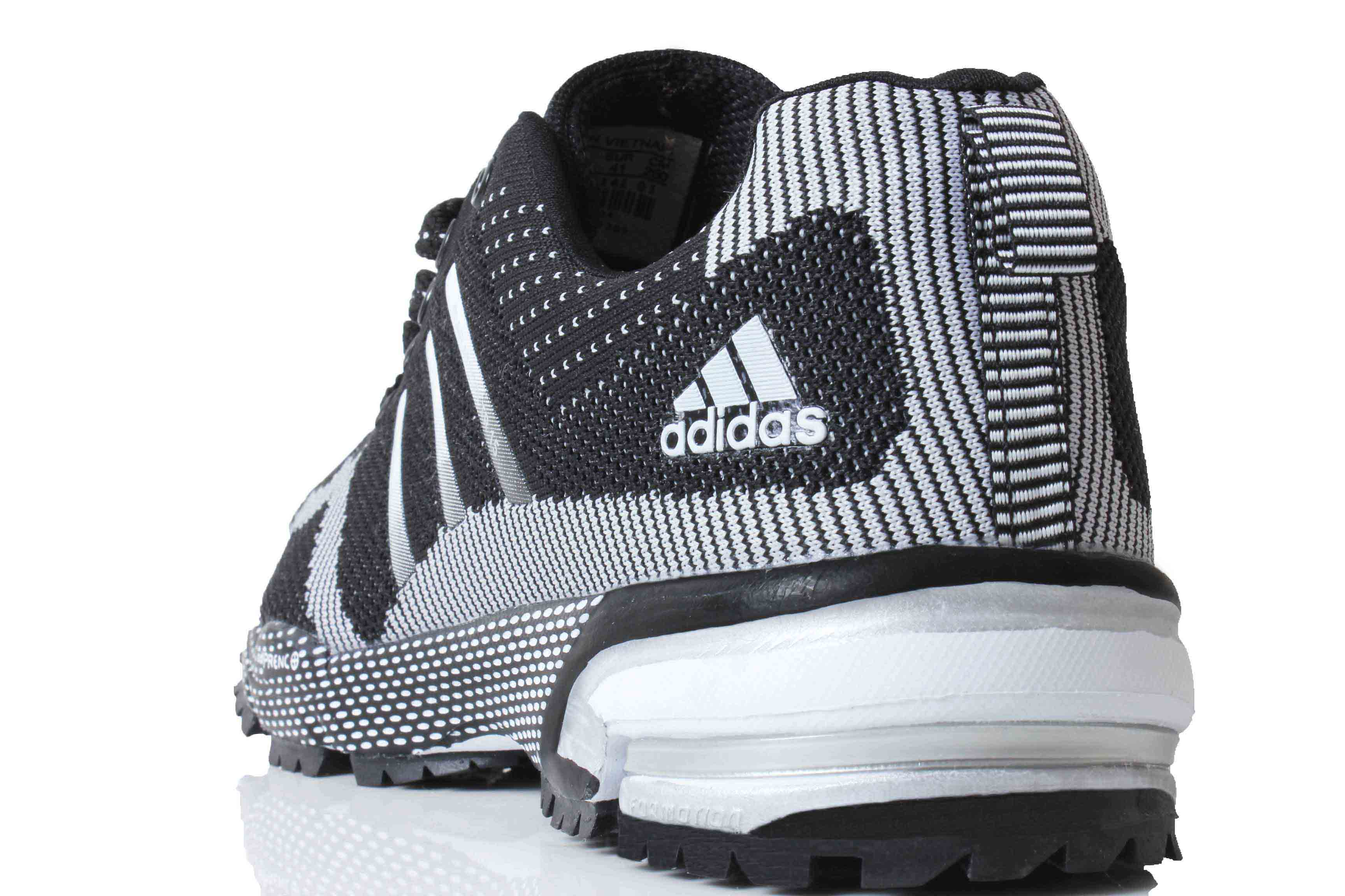 Adi Marathon Black & White Sport Shoes SYB-818