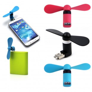 2 IN 1 Plug & Play Usb/Android Smart Phone Cooling Fan ( BUY 1 GET 1 FREE ) price in Pakistan