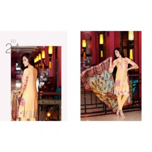 Charizma 3 Piece Embroidered Swiss voil Suit (CR16E 24) price in Pakistan