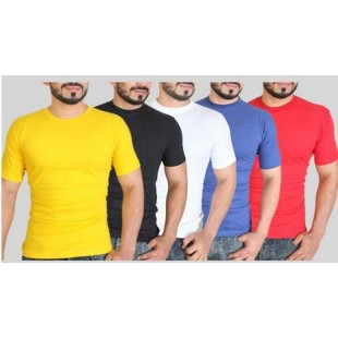 Pack Of 5 Plain T-Shirts price in Pakistan
