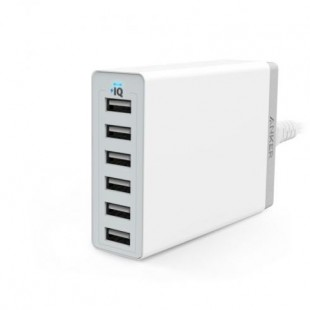 Anker PowerPort 6 -60W 6 Port USB Charger - White A2123K21 price in Pakistan