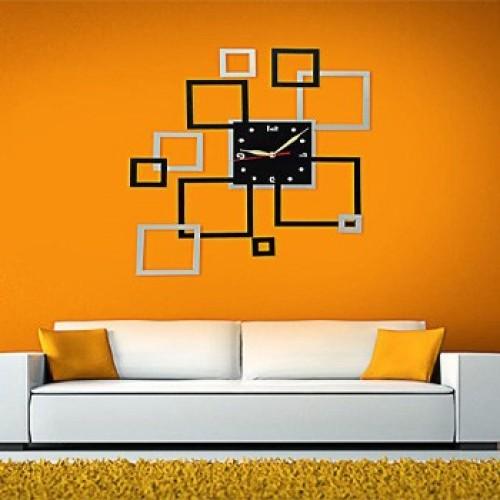 oddity 3d fancy wall clock square price in pakistan, oddity in