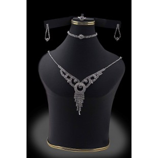 Stylish Jewelry Set Silver-02 price in Pakistan