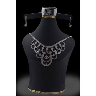 Stylish Flower jewelry Set Silver-03 price in Pakistan