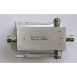 SPLITTER 1 INTO 3 3 WAY POWER SPLITTER (Freq 800-2500Mhz) 1in 3 out price in Pakistan