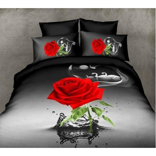 3D Bedsheets Black And Red Bedsheet 2 Price In Pakistan