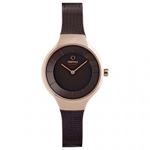 Obaku Women Watch (Rose gold and Brown) V166LXVNMN price in Pakistan