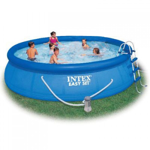 Intex 54914 Pool Easy Set 15ft x 3ft with Filter Pump and Pool Ladder