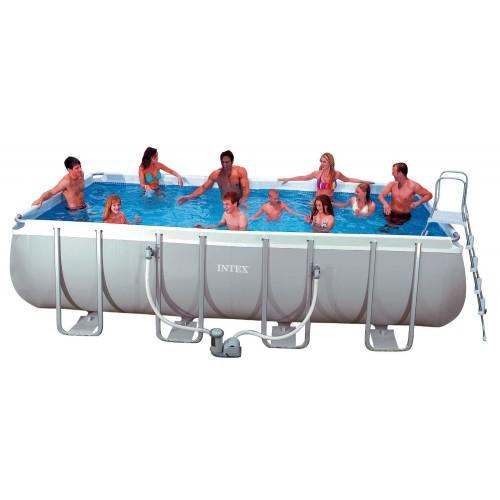 INTEX Ultra Frame Rectangular Pool Set With Sand Filter Pump (24 ft ...