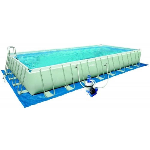 intex above ground pool rectangle. INTEX 32ft X 16ft 52\ Intex Above Ground Pool Rectangle