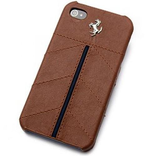 new arrival fa4ca 9c3ba Ferrari Case California Leather for iPhone 5 - Kamel