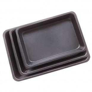 3Pcs Set Rectangle Carbon Steel Non-stick Baking Pan Cookies Plate Bakeware price in Pakistan