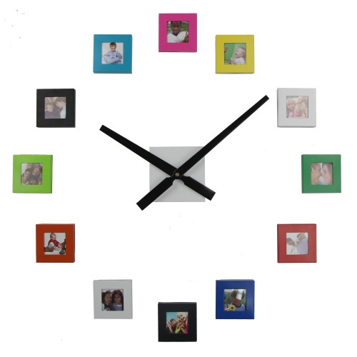 New Big Diy 12 Photos Frame Wall Clock Price In Pakistan At Symbiospk