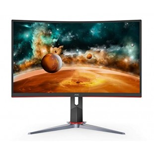 """AOC CQ27G2 27"""" Super Curved Frameless Gaming Monitor QHD 2K, 1500R Curved VA, 1ms, 144Hz, FreeSync, Height Adjustable price in Pakistan"""