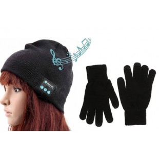 Bundle Offer: Bluetooth Cap with Plain Black Gloves price in Pakistan