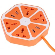 Universal 4 USB Hexagon Power Socket