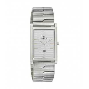 Titan Men's 'Edge' Quartz Stainless Steel Dress Watch, Color:Silver-Toned (Model: 1043SM14) price in Pakistan