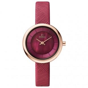 Obaku Women Watch (Rose gold and Red) V146LXVQRD price in Pakistan