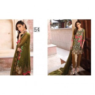 3 Piece Embroidered Chiffon Suit (CH16E2 54) price in Pakistan