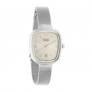 Titan Analog Women's Watch Silver (2610SM01) price in Pakistan