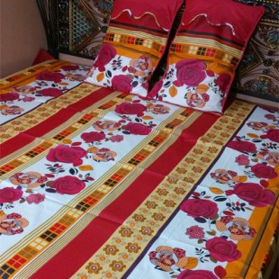 Red and Yellow Bedsheet 05 price in Pakistan
