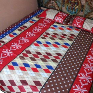 Brown and Red Bedsheet 07 price in Pakistan