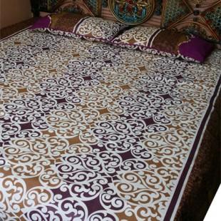 Light and Dark Brown Bedsheet 08 price in Pakistan