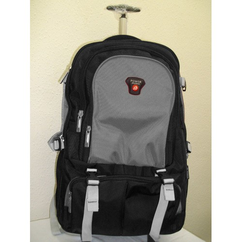 2b05f6de3001 Back Pack Trolly Bag With Wheel Grey   Black By Power In Eavas price in  Pakistan