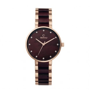 Obaku Ladies Two Tone Steel Bracelet Watch V189LXVNSA price in Pakistan