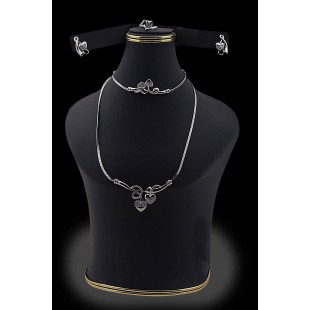 Heart Shape Jewelry Set Silver-01 price in Pakistan