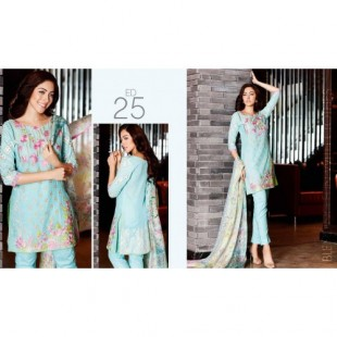 Charizma 3 Piece Embroidered Swiss voil Suit (CR16E 25) price in Pakistan