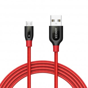 Anker Powerline+ Micro USB 6ft UN Red A8143H91 price in Pakistan