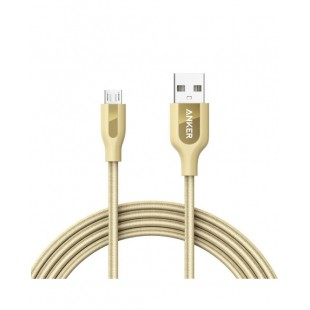 Anker POWERLINE+ MICRO USB Android Data Cable 6ft Gold A8143HB1 price in Pakistan