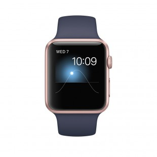 Apple Watch - Series 1 MQ122 42mm Rose Gold Aluminum Case with Midnight Blue Sport Band price in ...
