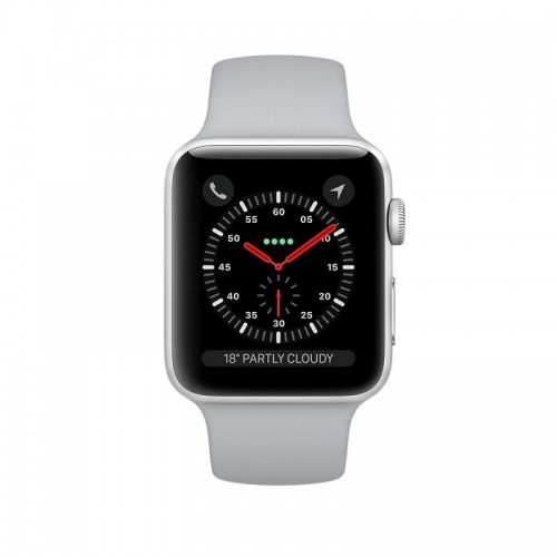 Apple Watch Series 3 Mqku2 38mm Silver Aluminum Case With Fog Sport