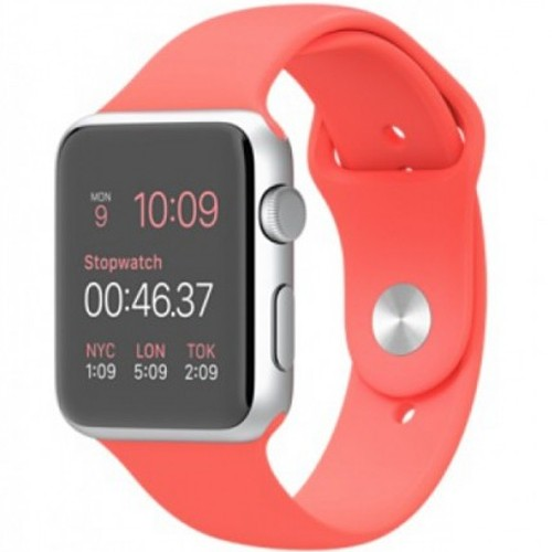 pretty nice 947df 2d2c9 Apple Watch Series 1 - MMFL2 42mm Silver Aluminum Case with Pink Sport Band