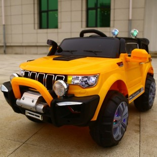 Electric Car For Children Jeep Machine 2 Places 4wd 12v With Usb Mp3 Orange Remote Control price in Pakistan