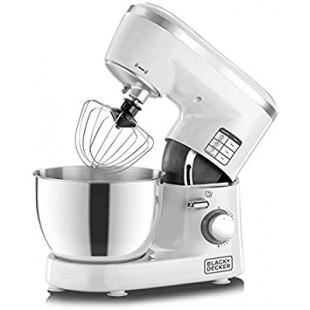 Black+Decker 1000W Stand Mixer, White/Silver - SM1000-B5 price in Pakistan